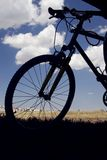 Silhouette of bicycle. Close up Royalty Free Stock Images