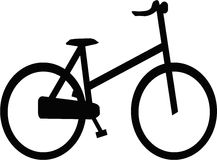 Silhouette Bicycle. Silhouette Black Bicycle design can use for clipart background object graphic stock illustration