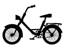 Silhouette of bicycle Royalty Free Stock Photography
