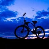 Silhouette of bicycle Stock Photography