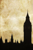 Silhouette of Big Ben Royalty Free Stock Photos