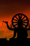 Silhouette Big buddha statue Stock Images