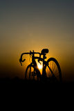 Silhouette of a bike Royalty Free Stock Photos