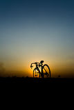 Silhouette of a bike. Royalty Free Stock Image
