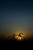 Silhouette of a bike. Stock Photography