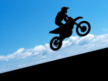 Silhouette of biker Royalty Free Stock Photos