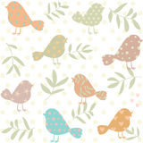 Silhouette of birds pattern Royalty Free Stock Images