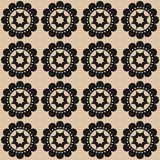 Silhouette black abstract flowers on a beige background. Royalty Free Stock Photo