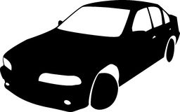 Silhouette of black Car Vector Royalty Free Stock Photography