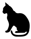 Silhouette black cat profile Royalty Free Stock Photo
