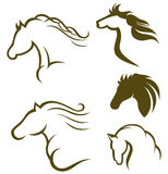 Silhouette black horse Royalty Free Stock Photos