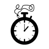 Silhouette black of stopwatch graphic Stock Photography