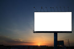 Silhouette with blank billboard Royalty Free Stock Photography