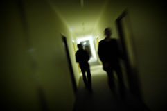 Silhouette Blur Royalty Free Stock Photos