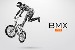 Silhouette of a BMX rider. Vector illustration Royalty Free Stock Images