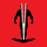 Silhouette of body builder open with zip Royalty Free Stock Images