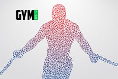 Silhouette of a bodybuilder. gym logo vector. Vector illustration Royalty Free Stock Image