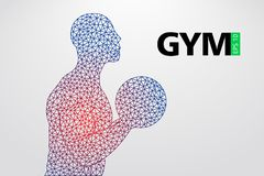 Silhouette of a bodybuilder. gym logo vector. Vector illustration Royalty Free Stock Photography