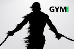 Silhouette of a bodybuilder. gym logo vector. Vector illustration Royalty Free Stock Photos
