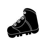 Silhouette boot equipment adventure camping stock illustration