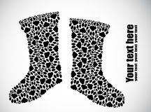 Silhouette of boots from the cat tracks Royalty Free Stock Photos