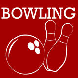Silhouette  of bowling Stock Images