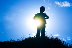 Silhouette of a boy Royalty Free Stock Photo