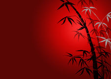 Silhouette of branches of a bamboo Stock Photo