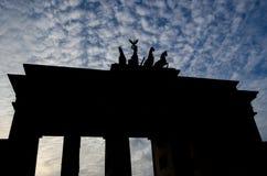 Silhouette of Brandenburg Gate, Pariser Platz, Berlin Royalty Free Stock Photo