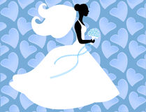 Silhouette bride Stock Image