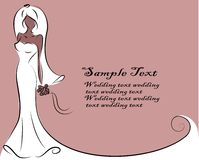 Silhouette of bride, background vector Stock Photos
