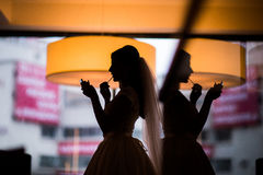 Free Silhouette Bride Make Up Royalty Free Stock Photos - 85447268