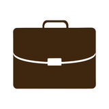 Silhouette briefcase executive icon flat Stock Images