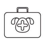 Silhouette with briefcase first aid vet Stock Photos