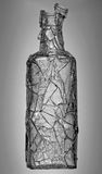 Broken Greyscale Bottle Stock Images