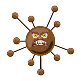 Silhouette brown with bacteria cartoon shape Stock Photography