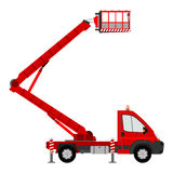 Silhouette of bucket truck Stock Photography