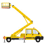 Cartoon bucket truck Royalty Free Stock Images