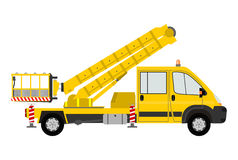 Silhouette of bucket truck Stock Image
