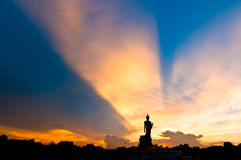 Silhouette of Buddha royalty free stock image