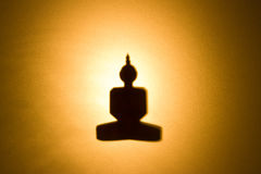 Silhouette of Buddha. Stock Photography