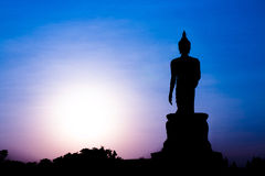 Silhouette of Buddha Royalty Free Stock Photography