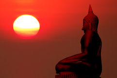 Silhouette of buddha Royalty Free Stock Photos