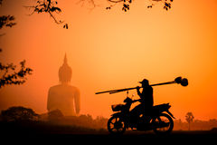 Silhouette Buddha Stock Photography