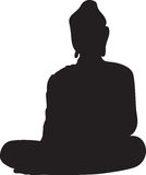 Silhouette of a buddha Stock Photos