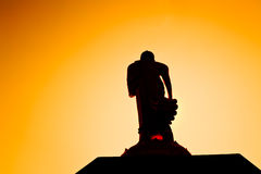 Silhouette buddha Royalty Free Stock Photos