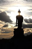 Silhouette buddha image. At putthamonthon, thailand Stock Images