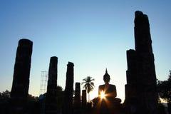 Silhouette buddha image Stock Image