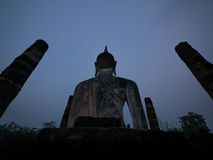 Silhouette buddha Stock Photography