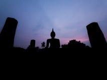 Silhouette buddha Stock Image